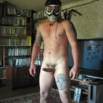 Nude Man With A Helmet And Hardon