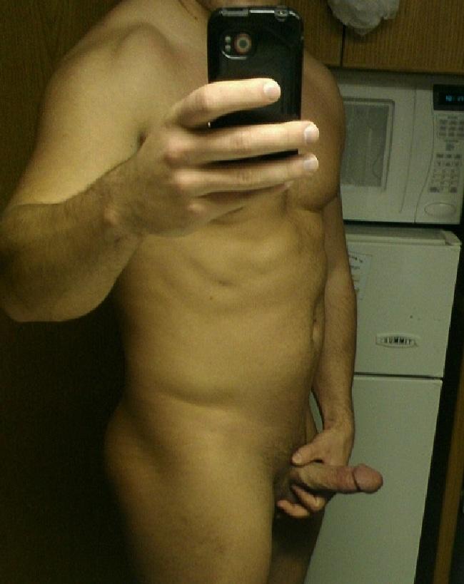 Nude Man Jerking Off