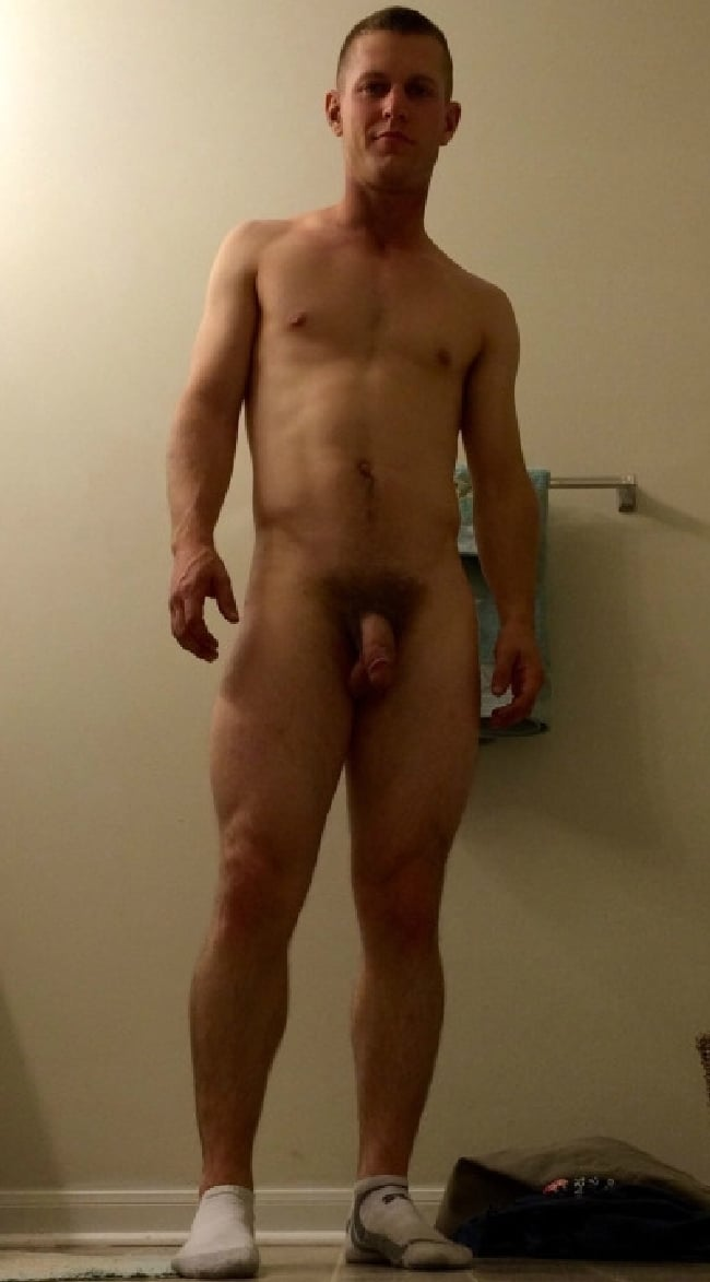 Handsome Nude Guy With A Hairy Cock - Nude Man Pictures
