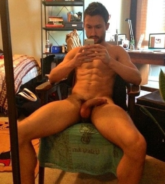 a sitting Nude men chair on