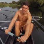 Nude Rower With A Soft Uncut Cock